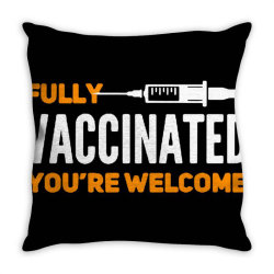 vaccinated 2021 Throw Pillow | Artistshot
