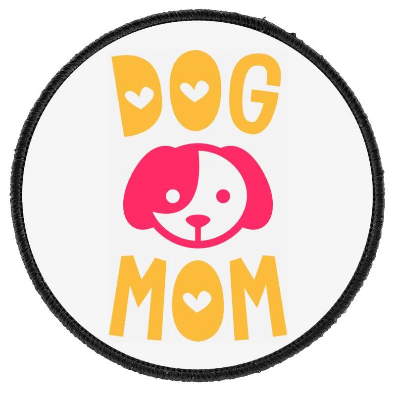 Dog Mom Round Patch   Artistshot