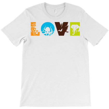 Love Animals T-shirt Designed By Ombredreams