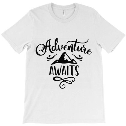 Adventure Awaits T-shirt Designed By Ombredreams