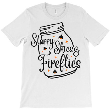 Starry Skies & Fireflies T-shirt Designed By Ombredreams