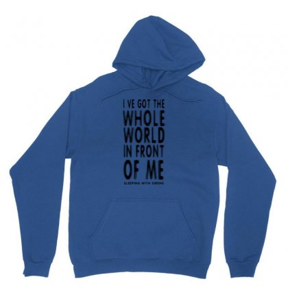 Official T Shirt Red Sleeping With Sirens Whole World Lyrics All Sizes Unisex Hoodie Designed By Ysuryantini21