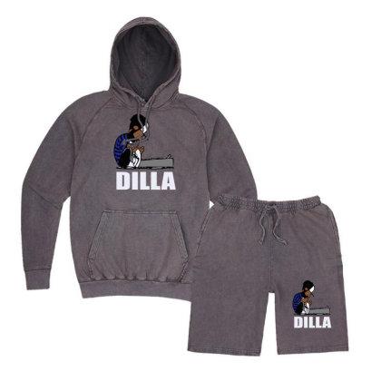 Dilla Schroeder Vintage Hoodie And Short Set Designed By Henz Art