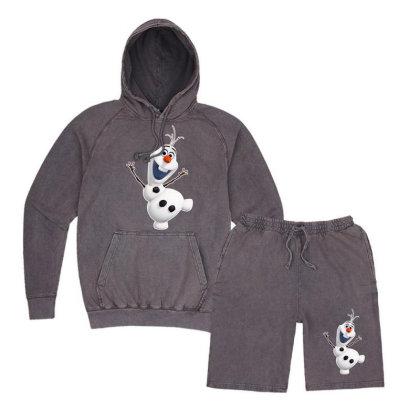 Olaf Snowman Frozen Vintage Hoodie And Short Set Designed By Jafarnr1966