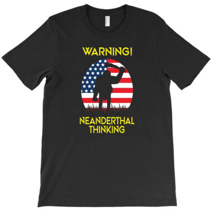American Neanderthal Us Flag For Proud Neanderthals T-shirt Designed By Black Coffee