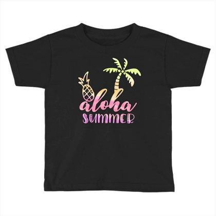 Aloha Summer Sublimation Toddler T-shirt Designed By Asiya