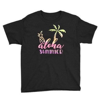 Aloha Summer Sublimation Youth Tee Designed By Asiya