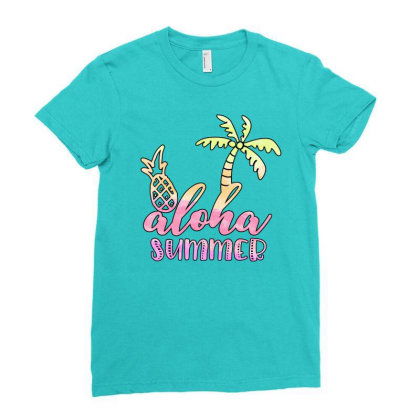 Aloha Summer Sublimation Ladies Fitted T-shirt Designed By Asiya