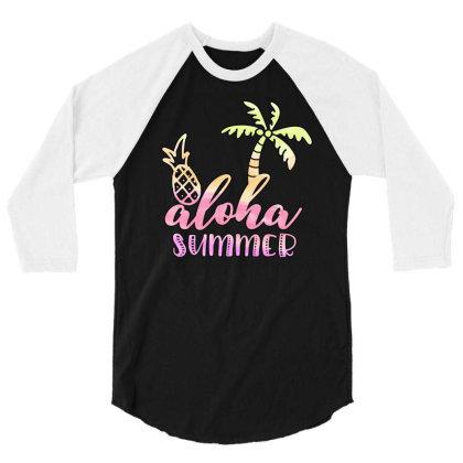 Aloha Summer Sublimation 3/4 Sleeve Shirt Designed By Asiya