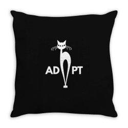 adopt Throw Pillow | Artistshot