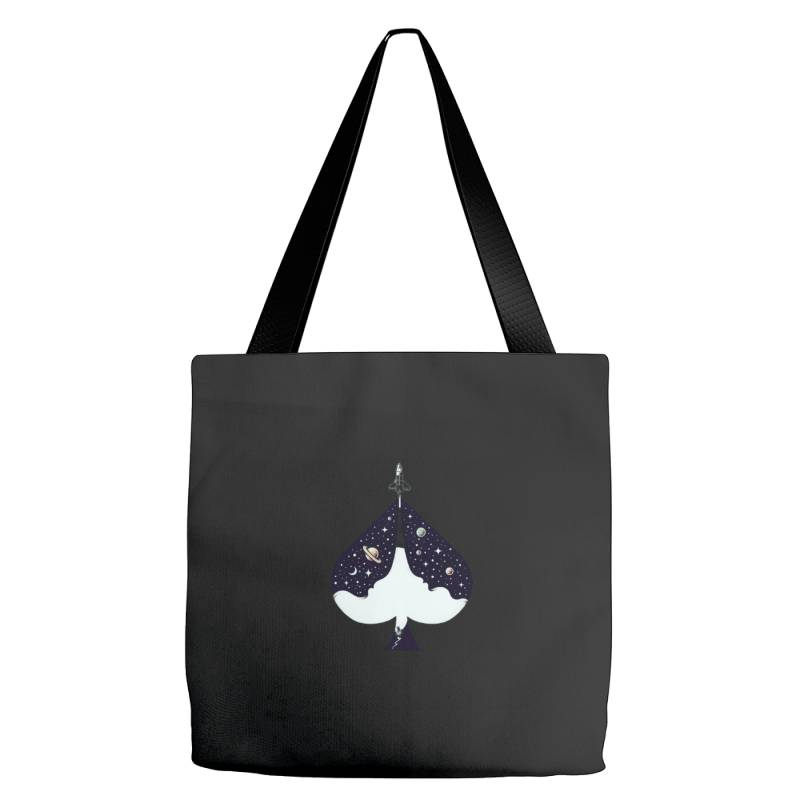 Ace Of Spades T-shirt Lucky Lady Luck Tote Bags | Artistshot
