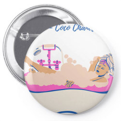 Coco Chanel Bathtub Quote Pin-back button | Artistshot