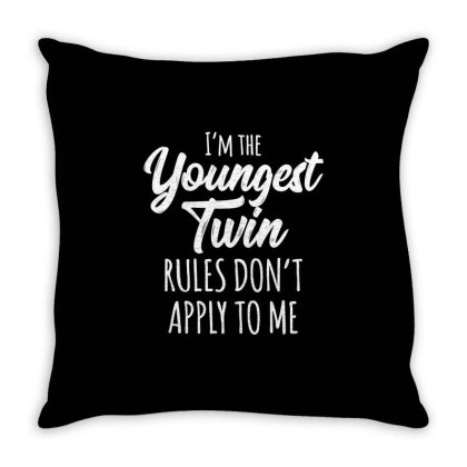 Siblings Youngest Twin Throw Pillow Designed By Top Seller