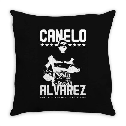 Canelo For Dark Throw Pillow Designed By Dampuot Apparel