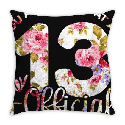 13th Birthday Girls 13 Years Teen Teenager Birthday Gift T Shirt Throw Pillow Designed By Nhan0105
