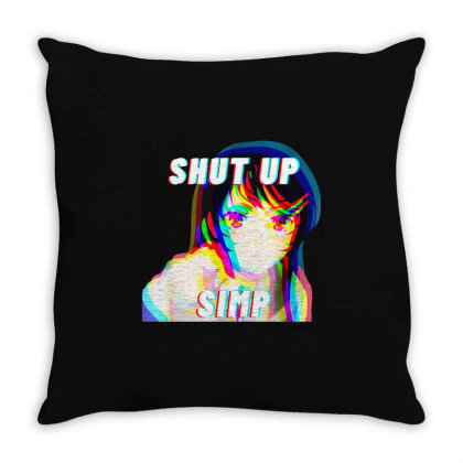 Shut Up Simp Japan Anime School Girl Throw Pillow Designed By Top Seller