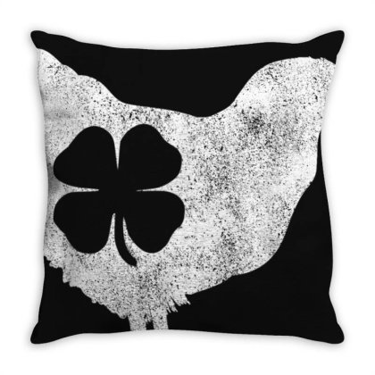 Chicken Bird Hen Shamrock St. Patrick's Day Saint Paddy's T-shirt Throw Pillow Designed By Cuser3772