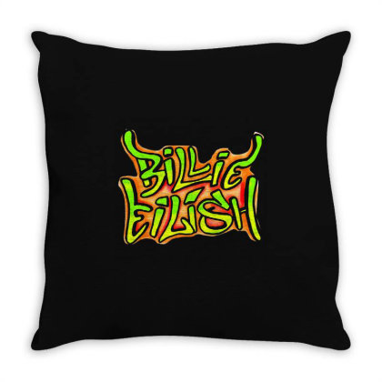 Eilish Typography Throw Pillow Designed By Dampuot Apparel
