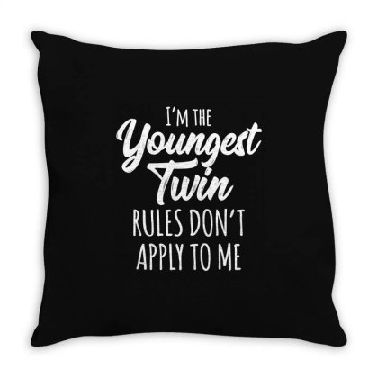 Siblings Youngest Twin Throw Pillow Designed By Mito220