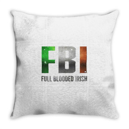 Full Blooded Irish St Patrick's Day Throw Pillow Designed By Dampuot Apparel