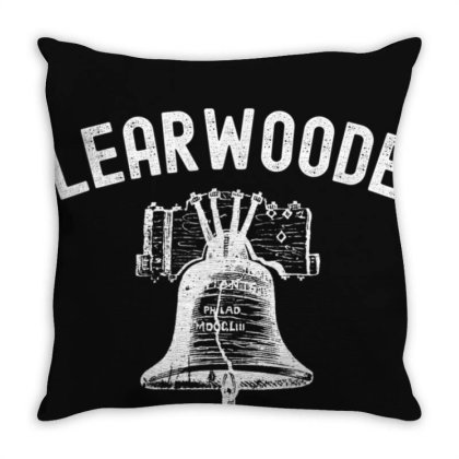 Clearwooder Clearwater Funny Philly Baseball Tee T-shirt Throw Pillow Designed By Cuser3772