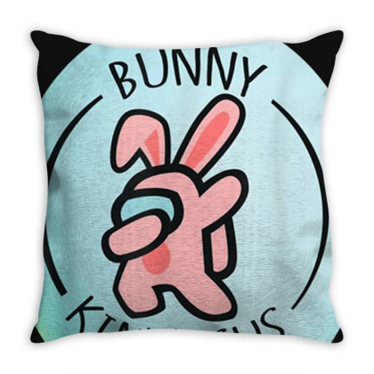 Bunny A.mong Us Easter Day T-shirt Throw Pillow Designed By Cuser3772