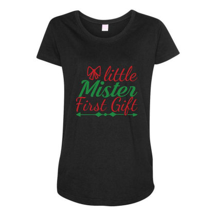 Little Mister First Gift Maternity Scoop Neck T-shirt Designed By Gnuh79