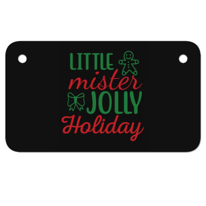 Little Mister Jolly Holiday Motorcycle License Plate Designed By Gnuh79