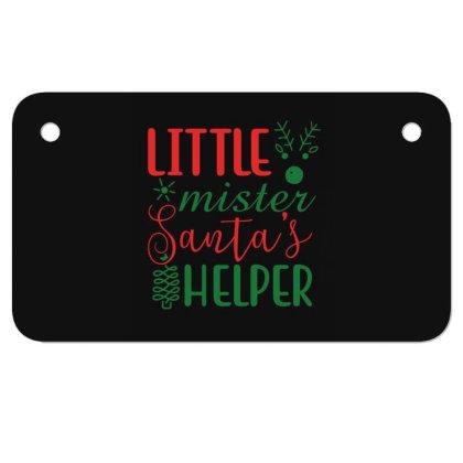 Little Mister Santa's Helper Motorcycle License Plate Designed By Gnuh79