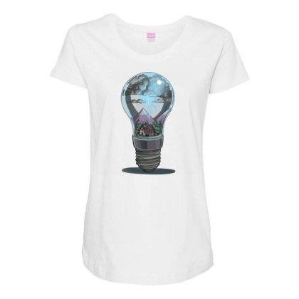 Storm Bulb Maternity Scoop Neck T-shirt Designed By Owen