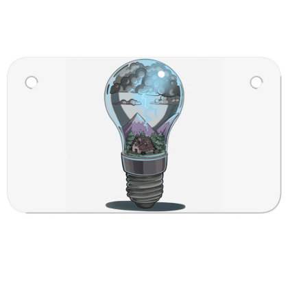 Storm Bulb Motorcycle License Plate Designed By Owen