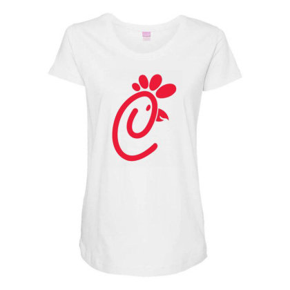 Chick Fil A Red Maternity Scoop Neck T-shirt Designed By Şen