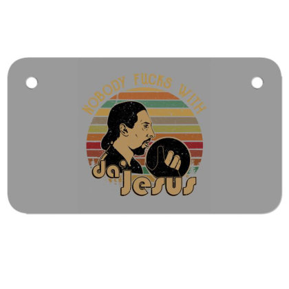 Nobody Fucks With Da' Jesus Motorcycle License Plate Designed By Lotus Fashion Realm