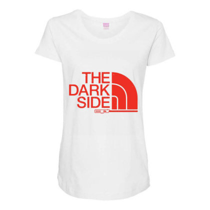 The Dark Side Maternity Scoop Neck T-shirt Designed By Lotus Fashion Realm
