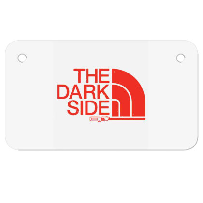 The Dark Side Motorcycle License Plate Designed By Lotus Fashion Realm