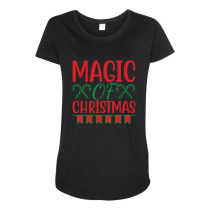 Magic Of Christmas Maternity Scoop Neck T-shirt Designed By Gnuh79