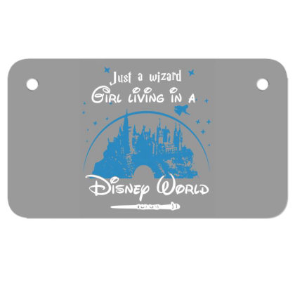 Just A Wizard Motorcycle License Plate Designed By Lotus Fashion Realm