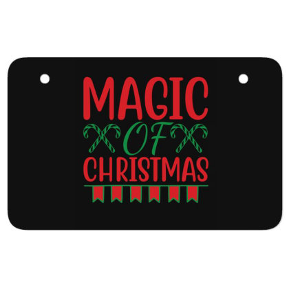 Magic Of Christmas Atv License Plate Designed By Gnuh79