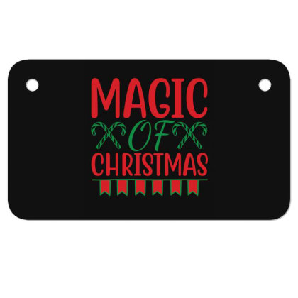 Magic Of Christmas Motorcycle License Plate Designed By Gnuh79