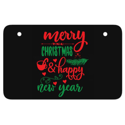Merry Christmas   Happy New Year 01 Atv License Plate Designed By Gnuh79