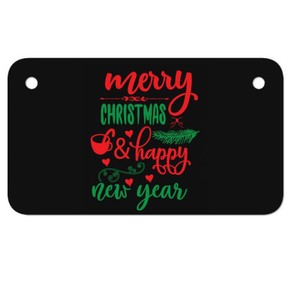 Merry Christmas   Happy New Year 01 Motorcycle License Plate Designed By Gnuh79