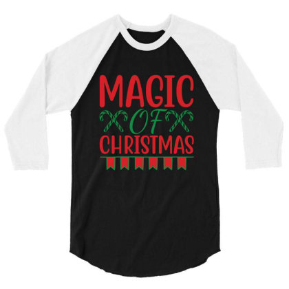 Magic Of Christmas 3/4 Sleeve Shirt Designed By Gnuh79