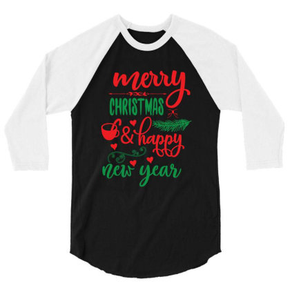 Merry Christmas   Happy New Year 01 3/4 Sleeve Shirt Designed By Gnuh79
