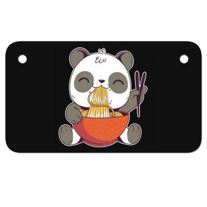 Ramen Panda Motorcycle License Plate Designed By Owen