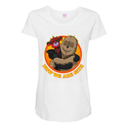 Now We Are Sith Maternity Scoop Neck T-shirt Designed By Lotus Fashion Realm
