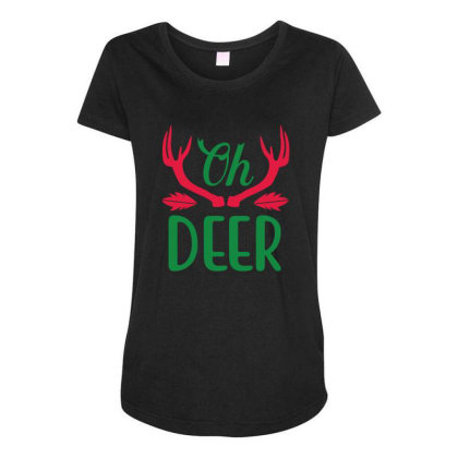 Oh Deer Maternity Scoop Neck T-shirt Designed By Gnuh79
