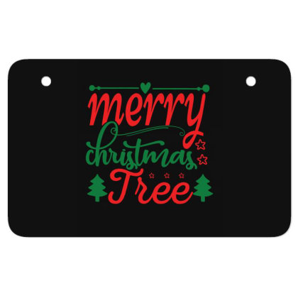 Merry Christmas Tree Atv License Plate Designed By Gnuh79