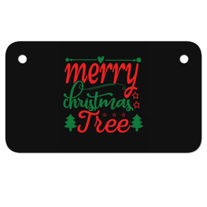 Merry Christmas Tree Motorcycle License Plate Designed By Gnuh79
