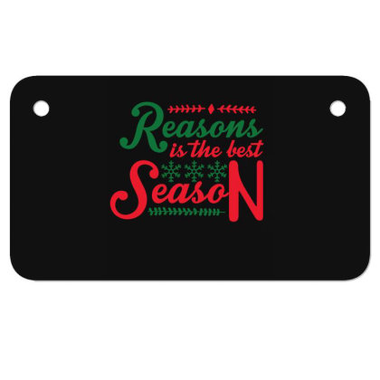 Reasons Is The Best Season Motorcycle License Plate Designed By Gnuh79