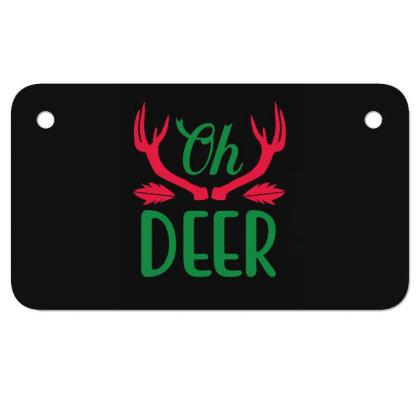 Oh Deer Motorcycle License Plate Designed By Gnuh79